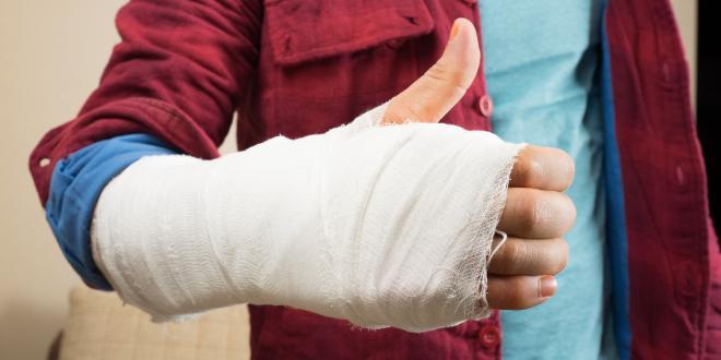 Knochenbruch am Handgelenk