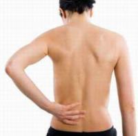 Die Wirbelsäule des Menschen des Stadiums der Osteochondrose
